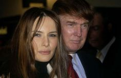 Model Melania Knauss with Donald Trump for the opening night of the musical…