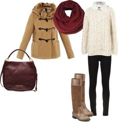 lovely fall outfit with riding boots and marc jacobs purse