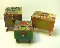 Con Tus Manos: Cajas de mosaico de arcilla polimérica