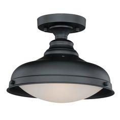 "1 - Light 12.25"" Simple Dome Semi Flush Mount & Reviews | AllModern"