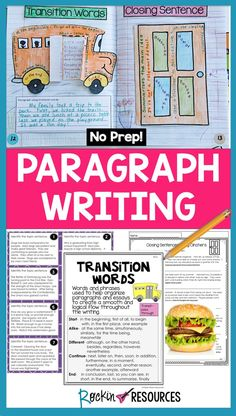 This PARAGRAPH WRITING UNIT unit is loaded with teaching tools to give your students a good foundation of skills to form a strong paragraph! ★★★Our SENTENCE STRUCTURE AND PARAGRAPH UNIT BUNDLE has been a BEST SELLER ON TPT!!! ★★★ so I wanted to offer it separately for those who just need paragraph writing. It is Common Core aligned with the CCSS listed on each anchor chart. There are 71 pages not including the student edition or cover pages.