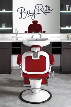 Incroyable Make The Salon Ambience Premier Italian Barber Chair Center Stage.  #barberchair Modern Barber Shop