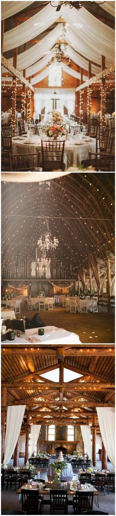High, vaulted ceiling with cascading lights and a fancy chandelier