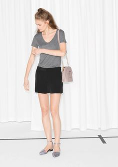 & Other Stories | Scooped Neck Top Viscose 190 sek, grey, white,