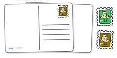 Blank Postcard Templates - Postcard template, Postcard, Postcard awards, award, reward, Postcard design, Seaside, fine motor skills, activity, holidays, holiday, water, tide, waves, sand, beach, sea, sun, holiday, coast