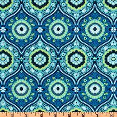 AB Lark Dreamer/Ocean Blue Print (to make: Drawstring Shorts)