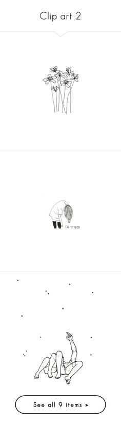 """""""Clip art 2"""" by lyrastormborne ❤ liked on Polyvore featuring fillers, flowers, doodles, drawings, backgrounds, text, quotes, details, effects and embellishments"""