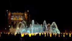 The fountains in front of the National Museum of Art of Catalonia - love them!