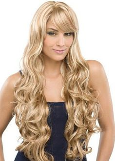 18 Inch Water Wavy #613 Remy Human Hair Lace Front Wigs
