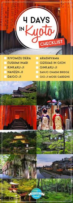 What to do in Kyoto? My efficient 4 days in Kyoto itinerary covers main attractions, cultural experiences, exclusive hidden gems, tips & more! Go To Japan, Visit Japan, Japan Trip, Tokyo Trip, Japan Japan, Okinawa Japan, Japan Travel Guide, Asia Travel, Wanderlust Travel