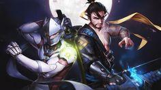 Genji and Hanzo Overwatch Art Ninja Wallpaper