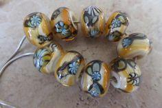 stoursglass  Carmel Crunch Murrini Lampwork Beads by stoursglass, $27.00