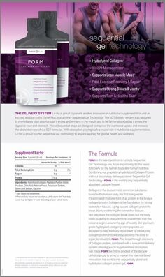 It's available!!!! Form Sequential Collagen Protein is live!!!  www.alinewsom.le-vel.com