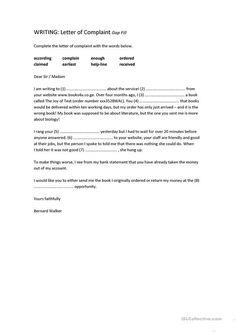 Complaints Letter