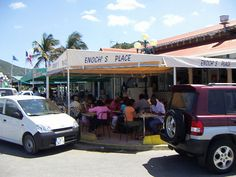 Enoch's Place  Marigot, St. Martin (Can't wait to go back!!!) Forget about how it looks-- the place has seriously damn good food!