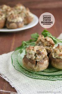 Sausage Stuffed Mushrooms | www.tasteandtellblog.com
