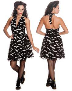 HELL BUNNY ROBYN BAT DRESS - BLACK & WHITE $35