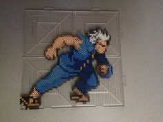 Elfman Strauss Fairy Tail perler beads by TehMorrison