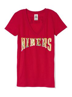 Nike San Francisco 49ers Women's Legend Logo V-Neck Performance T-Shirt - Black