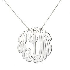 Ginette Ny Lace Monogram Necklace White Gold | Jewelry and Accessory