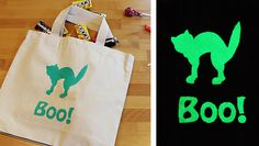 Not too late to make it! Glow in the Dark Trick-or-Treat Bags