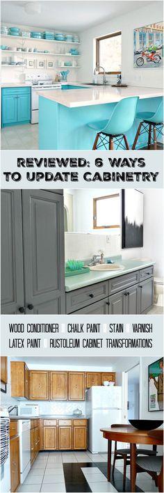Dans le Lakehouse : Cabinet Refinishing 101: Latex Paint vs. Stain vs. Rust-Oleum Cabinet Transformations vs. Varnish vs. Chalk Paint vs. Wood Conditioner