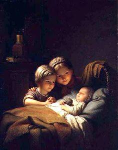 Johann Georg Meyer von Bremen (1813 – 1886, German) The Three Sisters