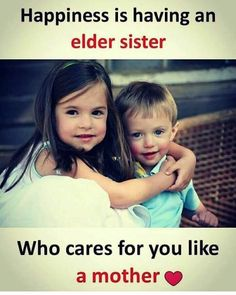 Best Brother Sister quotes - Brother and Sister Bonding Sayings Brother Sister Love Quotes, Brother And Sister Relationship, Brother Birthday Quotes, Sister Quotes Funny, Best Friend Quotes, Best Friends, Daughter Poems, Nephew Quotes, Brother Quotes In Hindi