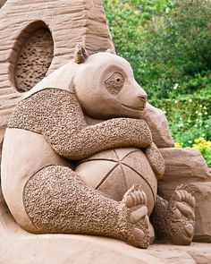 Panda Sand Sculpture. | Flickr - Photo Sharing!