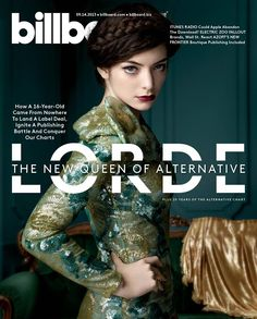 I have heard of the magazine billboard and I know that it talks about music. What I love most about this is the fact that LORDE is the central focus point of the magazine and the green of the background really brings out the white sub titles. Web Design, Layout Design, Graphic Design, Print Design, Design Ideas, Editorial Layout, Editorial Design, Mise En Page Magazine, A Magazine