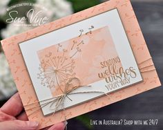 Sending Dandelion Wishes Happy Friday, so glad it is the end of the working week… - Kaarten Maken Tarjetas Stampin Up, Happy Friday, Dandelion Wish, Stamping Up Cards, Rubber Stamping, Get Well Cards, Pretty Cards, Sympathy Cards, Thing 1