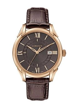 VERSACE APOLLO IN ROSE GOLD WITH BROWN DIAL AND STRAP