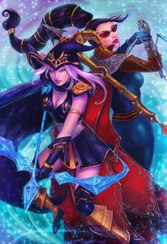 Ashe Vayne League of Legends by katizua