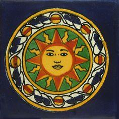 Decorative Mexican Tile Sol Azteca