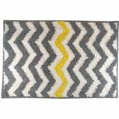 George Home Grey and Yellow Stripe Bathroom Accessories | for the ...