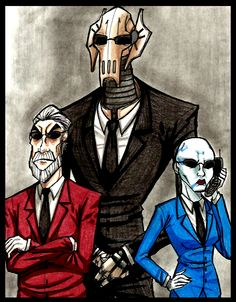 Separatist's in.. suits.. by PurpleRAGE9205 on DeviantArt. Never thought I'd see Grievous wearing sunglasses. :)