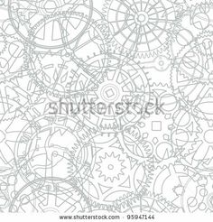 Seamless texture from the time gears - vector illustration by pzAxe, via Shutterstock