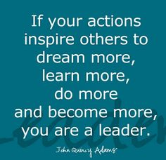 Are we leaders?