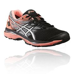 Asics gel-cumulus 18  womens pink black cushioned  waterproof running shoes  78caabc2ff