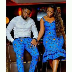 ankara mode Twin with your spouse in this outfit. Available in all sizes and other Ankara fabrics Processing takes Couples African Outfits, African Clothing For Men, African Dresses For Women, Couple Outfits, African Attire, African Women, African Fashion Designers, African Fashion Ankara, Latest African Fashion Dresses