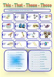 english worksheet this these that those thm recipes ideas pinterest english english. Black Bedroom Furniture Sets. Home Design Ideas