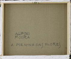 """Lote 6166 - ALBINO MOURA (n.1940) - Original - Pintura a óleo sobre tela, assinada, verso assinado e com indicação do título """"A Menina das Flores"""", com 50x60 cm (grade alta, sem necessidade de moldura). Obra deste autor foi vendida por € 4.500 numa leiloeira em Lisboa. Nota: Albino Moura nasceu em Lisboa, pintor autodidata, recebeu orientação de 1940, Auction, Oil Painting On Canvas, The Originals, Lisbon, Moldings, Toddler Girls, Verses, Authors"""