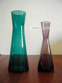glas vasen wmf wilhelm wagenfeld turmalin 50er 60er jahre 2x alte vase vintage deutsches glas. Black Bedroom Furniture Sets. Home Design Ideas