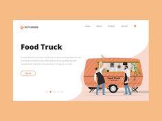 Food Truck - Street food designed by BdThemes. Food Industry, Food Design, Street Food, Graphics, Graphic Design, Printmaking