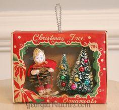 Vintage Ornament Box Diorama | Flickr - Photo Sharing!