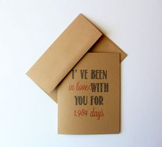 I've been in love with you... Kraft Note Greeting Card. by Paperlaced on #etsy http://www.paperlaced.etsy.com