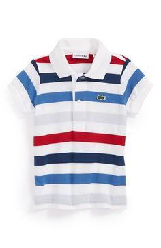 Lacoste Multicolor Stripe Piqué Polo (Baby Boys) available at #Nordstrom