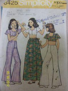 Vintage Simplicity 6425 Girls chubbies'  top bell by Bigwheel179, $2.00