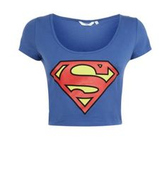 Blue Superman Crop Top £12.99 I LOVE superman & by that I mean HENRY CAVILL!