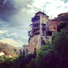 Cuenca, Spain, a small medieval city roughly two hours from Madrid, known for its cliff clinging hanging houses